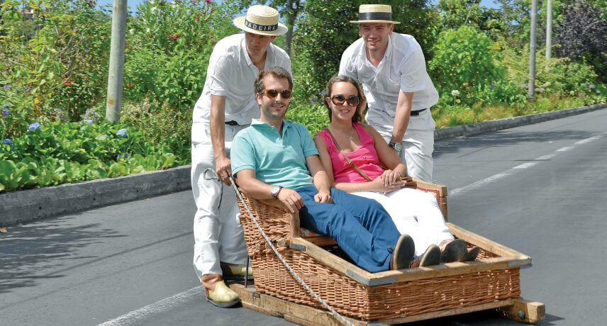 10-Local-Things-to-do-in-Funcal-Toboggan-Ride-on-Traditional-Wicker-Basket-Sledge